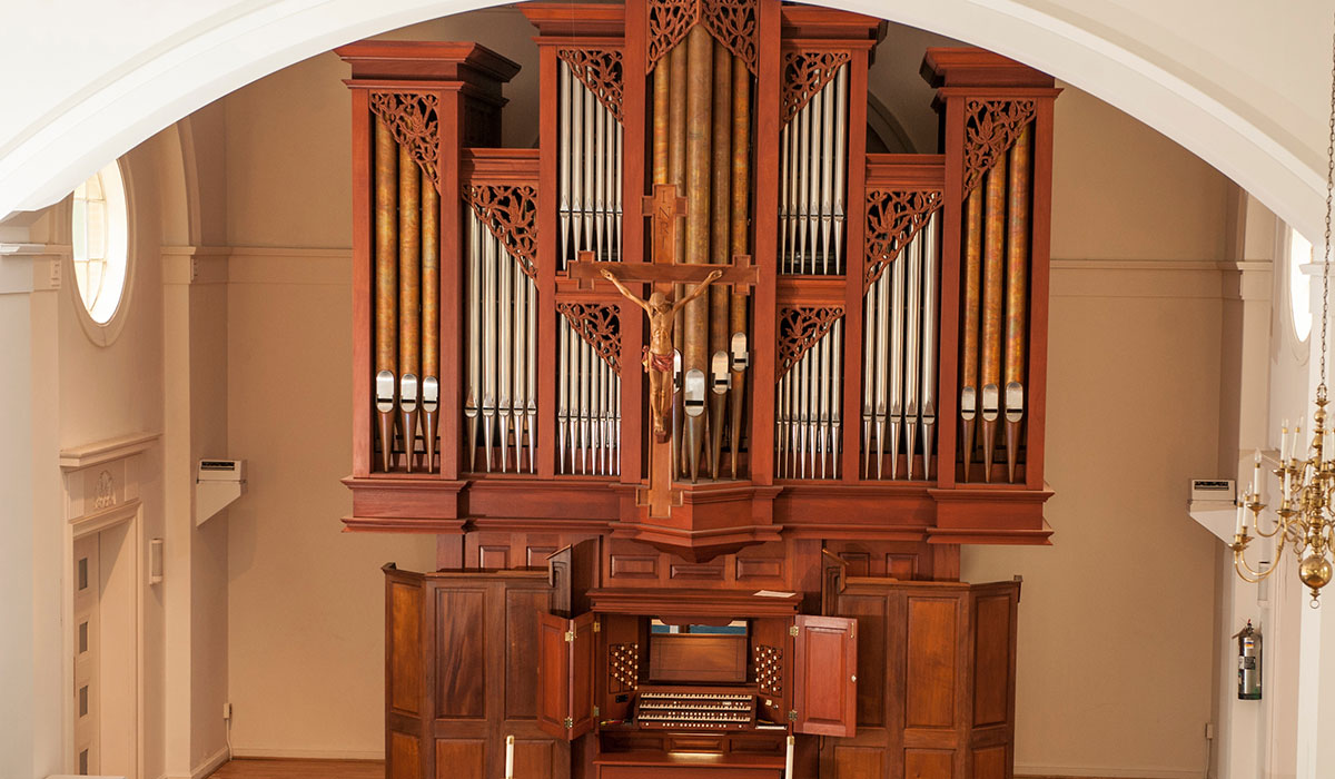Organ in chapel