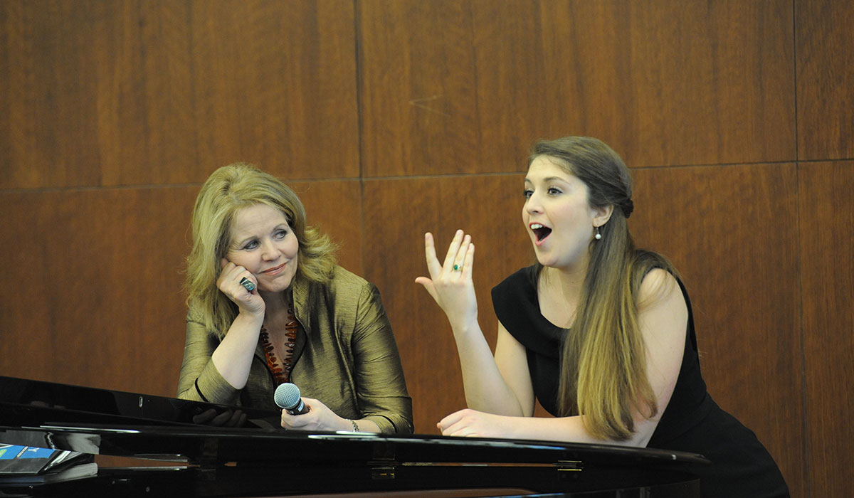 Renee Fleming with student